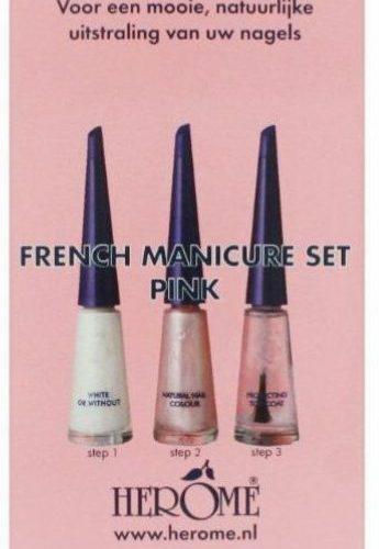 HE fransk manicure pink
