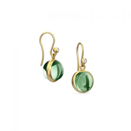 Prime grønne øreringe