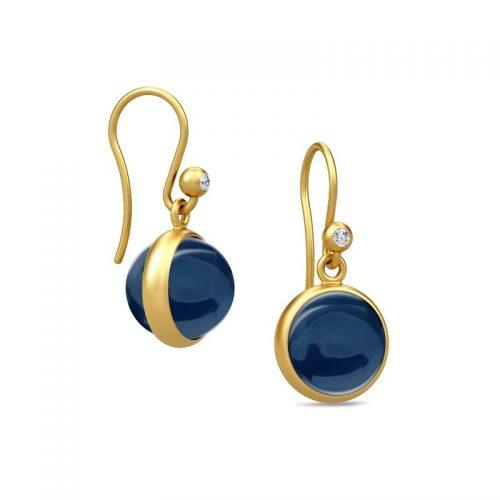 Prime safirblå øreringe