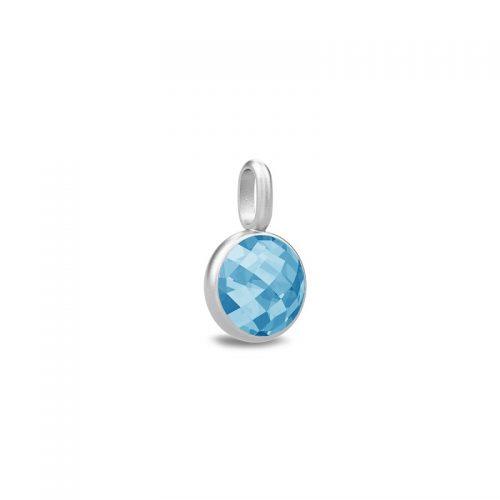 Julie Sandlau Sweet Pea sølv blå vedhæng