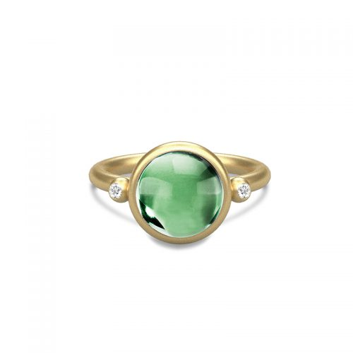 Prime grøn ring forgyldt