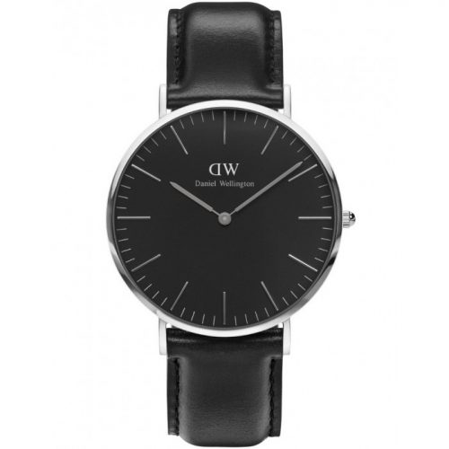 DANIEL WELLINGTON sort 36mm classic sølv