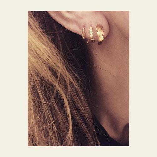 513bac57332 STINE A Petit Bon-bon White Zircon Earring Piece Forgyldt Sølv