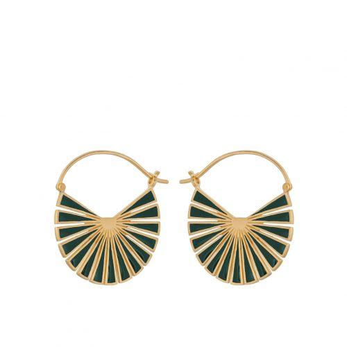 da12261525a PERNILLE CORYDON Flare Green Earrings Forgyldt Sølv