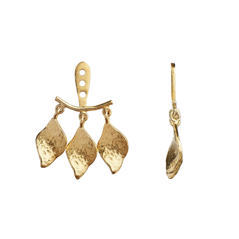 THREE DANCING ILE DE L'AMOUR BEHIND EAR EARRING GOLD